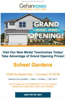 Model Home Grand Opening in Scheel Gardens!