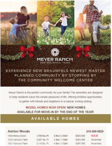 Move In Ready Inventory Available Now in Meyer Ranch!