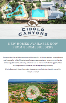 New Homes Available Now at Cibolo Canyons in San Antonio!