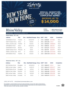 New year, New Home Sales Event!