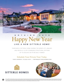 Nothing says Happy New Year like a new Sitterle home!