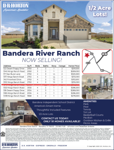 Now Selling in Bandera River Ranch!