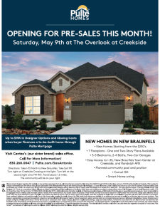 Opening for Pre-Sales - The Overlook at Creekside!