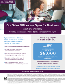 Our Communities are Open for Business with Up to 8% Agent Commissions!