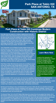Park Place at Tobin Hill - Modern Construction, Historic District