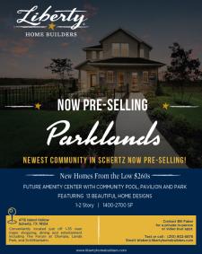 Parklands - Now Pre-Selling in Schertz!