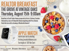 Prepare to Have Fun and Tour 3 Beautiful Models at The Grove at Vintage Oaks Agent Breakfast!