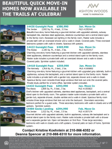 Quick Move-In Homes Available in The Trails at Culebra