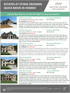 Quick Move-In Homes at Estates at Stone Crossing!