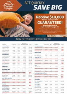 RECEIVE $10K TOWARDS CLOSING COSTS!*