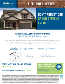 RSVP HERE - Win Prizes and Enjoy a Catered Lunch at Asher Place Agent Grand Opening
