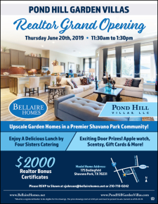 RSVP Now for the Realtor Grand Opening in Pond Hill Garden Villas!