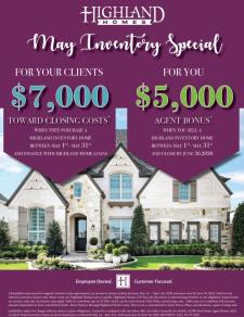 Realtor Bonus + Closing Costs   Highland Homes Move-In Ready Homes