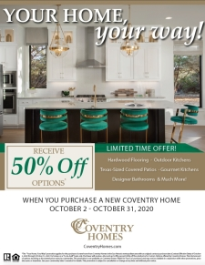 Receive 50% Off Options* - Limited Time Offer