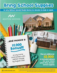 Receive a $1,000 Bonus When You Bring School Supplies!