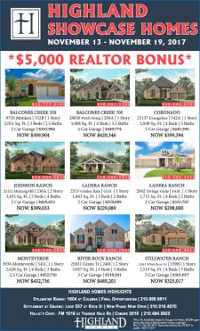 Showcase Homes with 5k Agent Bonus
