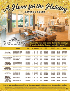 Special Holiday Savings on Select Move-In Ready Homes!