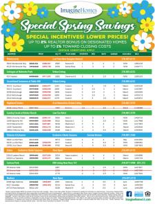 Special Spring Savings