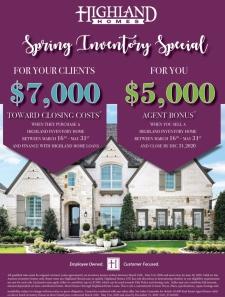 Spring Special   Highland Homes Realtor Bonus