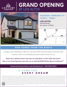 Stop by for Good Food, Exciting Door Prizes and $1000 Agent Bonus Certificates at the Los Altos Gran
