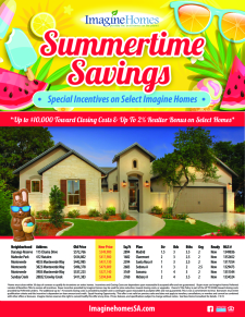 Summertime Savings - Special Incentives on Select Homes!