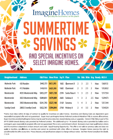 Summertime Savings!
