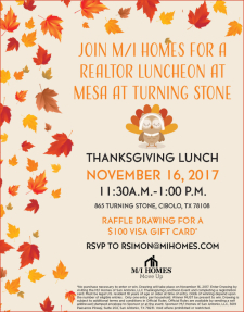 Thanksgiving Lunch at Mesa at Turning Stone - Enter to Win a $100 Gift Card!