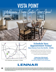 Vista Point Welcome Home Center NOW OPEN!