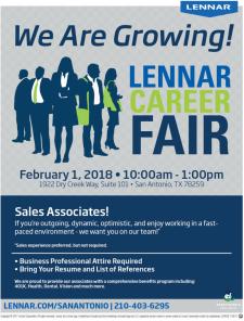 We Are Growing - Lennar Career Fair!
