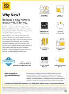 Why New? Because a New Home is Uniquely Built For You!
