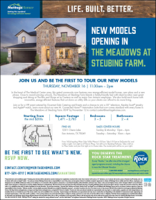 Win a 50'' TV, Apple Watch and More at The Meadows at Steubing Farm Model Grand Open!