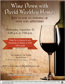 You're Invited! Join us at The Heights at Two Creeks For Wine, Prizes, and Appetizers!