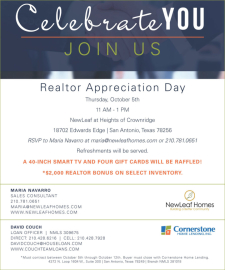 You're Invited! The Heights of Crownridge is Having Agent Appreciation Day - Enter To Win a Smart TV