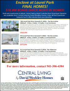 $10,000 Bonus on Final homes in Enclave at Laurel Park by David Weekley Homes