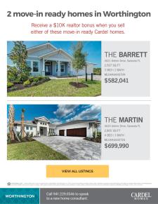 $10K Bonus on Move-in Ready Homes in Sarasota