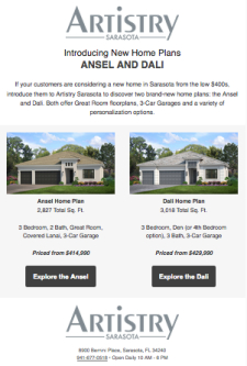 Announcing New Home Plans at Artistry Sarasota