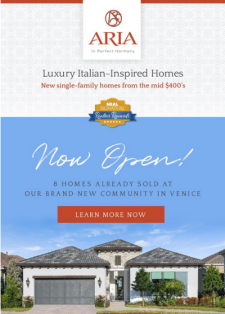 NOW OPEN: Aria in Venice by Neal Signature Homes