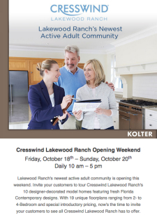 Cresswind Lakewood Ranch Opening Weekend - October 18-20