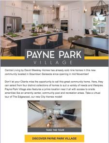 David Weekley Homes Payne Park Village Now Selling!