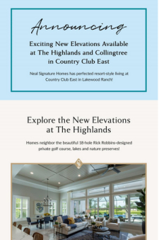 Luxurious New Elevations Now Available in Country Club East!