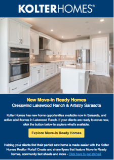 New Home Opportunities Available Now