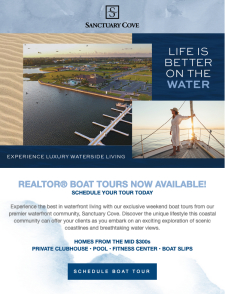 New Homes with Boat Slips Plus Realtor Boat Tours at Sanctuary Cove