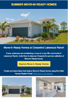 Summer Collection of Move-In Ready Homes