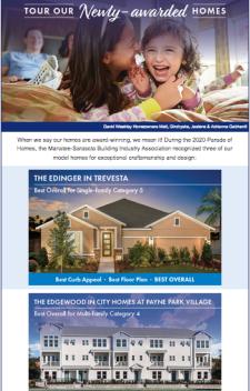 Visit Our Award Winning David Weekley Homes!