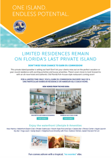You Do NOT Want to Miss This Commission! These private island homes won't last long!