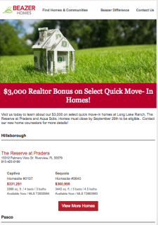 $3,000 Agent Bonus On Select Move-In Homes!