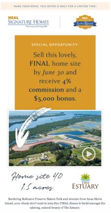 4% Commission + $5,000 Bonus on this Final Home Site!*