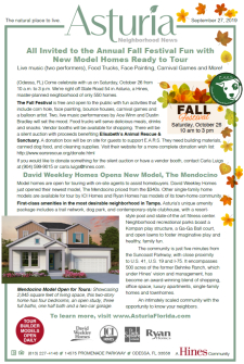 Annual Fall Festival & New Model Homes Ready to Tour!
