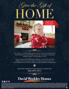 David Weekley Homes Holiday Sales Event