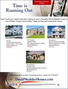Final David Weekley Home Opportunities in Tampa